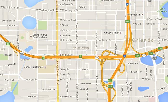 Orlando Crime Rate News - Parramore Map Orlando, FL