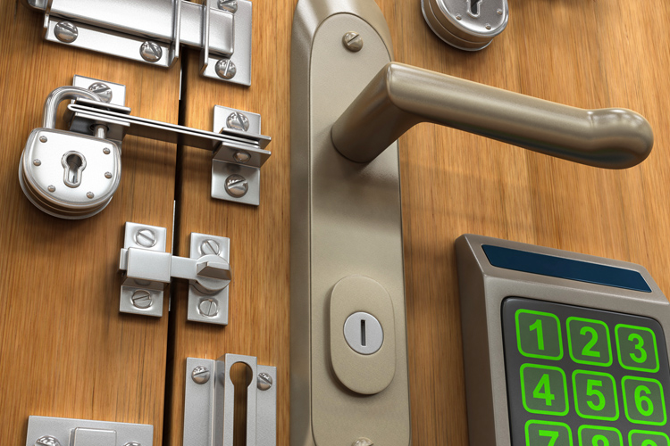 various-locks-on-a-residential-door